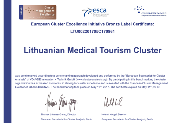 In Lithuania – 2 more internationally certified clusters