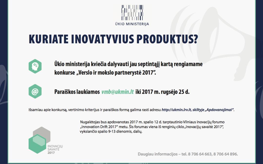 """Ūkio ministerija paskelbė """"Verslo ir mokslo partnerystės"""" 2017 metų konkursą"""